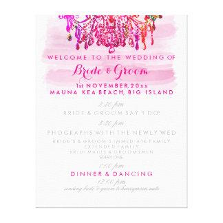 PixDezines murano glass chandelier wedding program Canvas Print