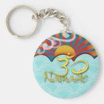PixDezines namaste+wind+water+sunburst+om Basic Round Button Keychain