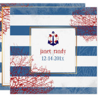 PixDezines nautical anchors lifesavers/diy color Invitation