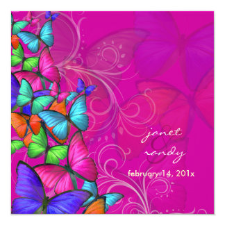 PixDezines Neon Fluttering By/DIY background color Card