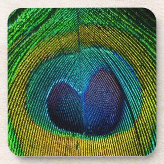 PixDezines neon/psychedelic peacock eye Beverage Coaster