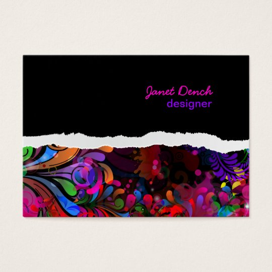 PixDezines neon retro swirls/diy background colors Business Card