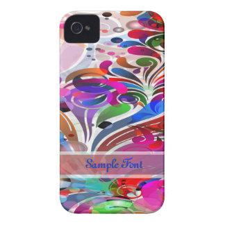 PixDezines Neon Swirls|DIY text iPhone 4 Cover
