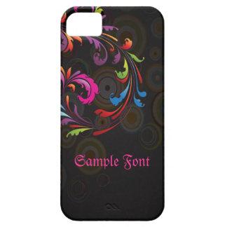 PixDezines Neon Swirls|DIY text iPhone SE/5/5s Case