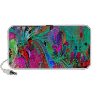 PixDezines Neon Swirls iPod Speaker