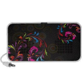 PixDezines Neon Swirls Notebook Speaker