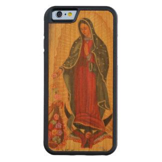 PixDezines nuestra señora de Guadalupe Funda De iPhone 6 Bumper Cerezo