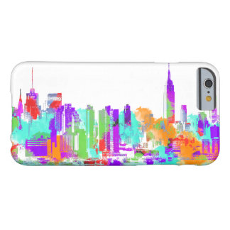 PixDezines NYC color run/twin towers/skyline Barely There iPhone 6 Case