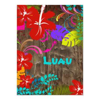 PixDezines Ohana Luau Personalized Announcement