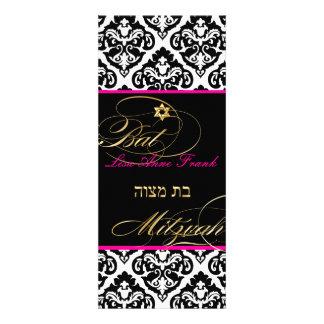 PixDezines olivia damask Bat Mitzvah DIY color Custom Invites