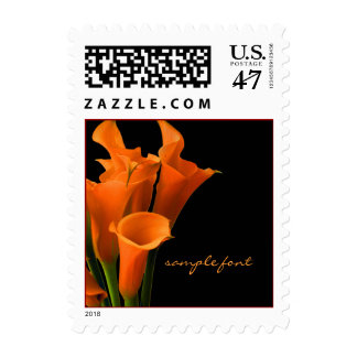 PixDezines Orange Calla Lilies Stamp