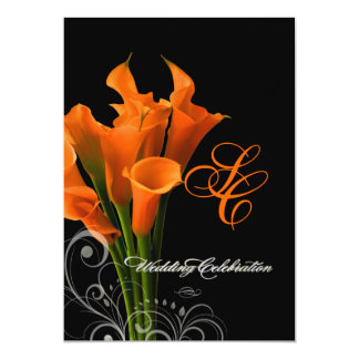 PixDezines orange calla lily/DIY background color Card