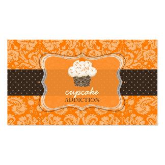 PixDezines orange chocolate cupcake/pâtisserie Business Card