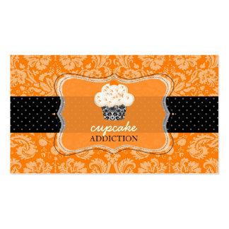 PixDezines orange chocolate cupcake/pâtisserie Business Cards