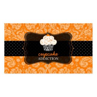 PixDezines orange chocolate cupcake/pâtisserie/diy Business Card Template