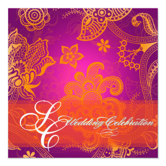 PixDezines orange floral lace/diy fonts+event Card