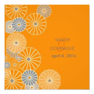 PixDezines Orange Kiku (chrysanthemum) Card