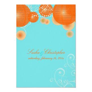 PixDezines orange lanterns/diy background color Card