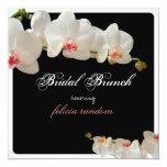PixDezines orchids/bridal brunch/diy background 5.25x5.25 Square Paper Invitation Card
