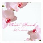 PixDezines orchids/phalaenopsis/DIY background 5.25x5.25 Square Paper Invitation Card