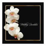 PixDezines orchids/phalaenopsis 5.25x5.25 Square Paper Invitation Card
