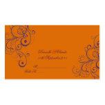 PixDezines Ornament Flourish Swirls place cards Business Card Template