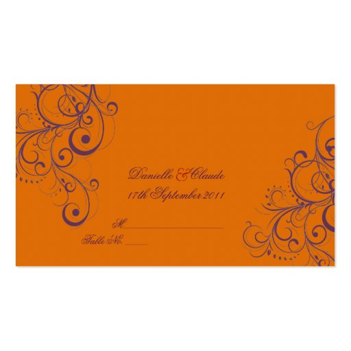 PixDezines Ornament Flourish Swirls place cards Double-Sided Standard Business Cards (Pack Of 100)