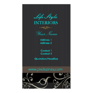 PixDezines Ornamental Swirls+pinstripes/diy color Double-Sided Standard Business Cards (Pack Of 100)