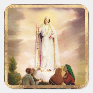 PixDezines Our Lady of Fatima Square Sticker