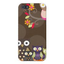 PixDezines Owl/pink orange/DIY background color Case For iPhone SE/5/5s