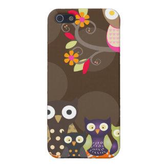 PixDezines Owl/pink+orange/DIY background color Case For iPhone SE/5/5s