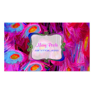 PixDezines painted peacock/cobalt/pink Business Card Template
