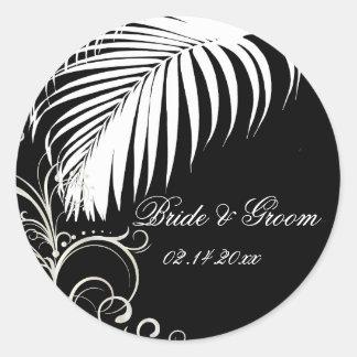 PixDezines palm frond wedding stickers
