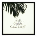 PixDezines Palm Fronds, Beach Wedding/diy color Card