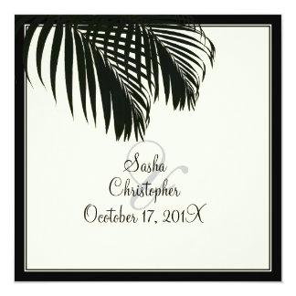 PixDezines Palm Fronds, Beach Wedding/diy color Invite