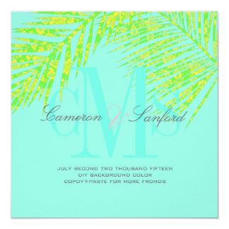 PixDezines palm fronds/diy background color+fonts Card