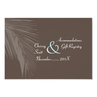 PixDezines palm fronds silhouette/cocoa+blue/hotel Card