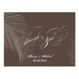 PixDezines Palm Fronds Thank you/DIY color!! Postcard