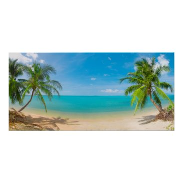Beach Themed PixDezines Paradise/Panoramic View Tropical Island Poster