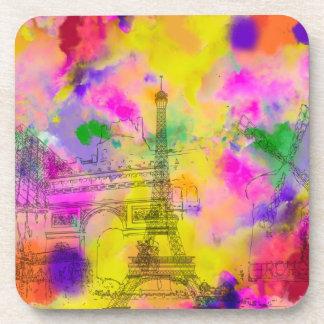 PixDezines paris color run/faux foil Drink Coaster