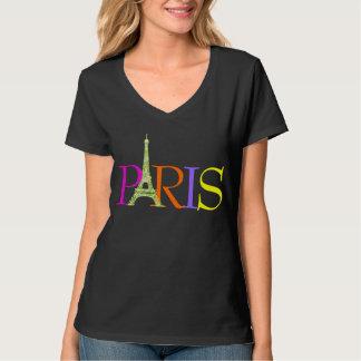 PixDezines París, falsa torre Eiffel del brillo Playera