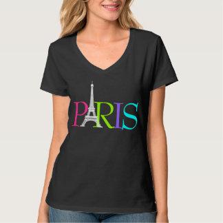 PixDezines París, fuente de Eiffel tower/DIY+color Playera