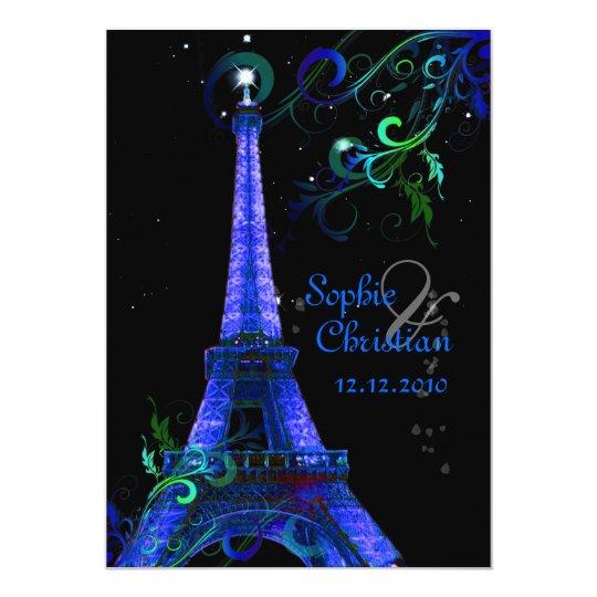 PixDezines Paris La Nuit, eiffel tower Card