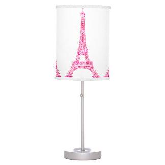 PixDezines Paris, pink eiffel tower Table Lamp