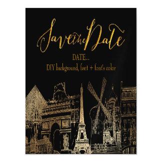 PixDezines Paris Sketched Cityscape Magnetic Card
