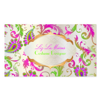 PixDezines pavo damask/abstract peacock Business Card