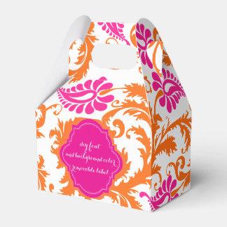 PixDezines pavo damask DIY color Wedding Favor Box