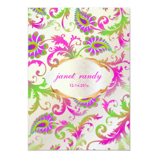 PixDezines pavo damask Personalized Announcements