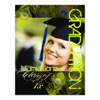 PixDezines Peacock, 2012 Graduation,diy background Card