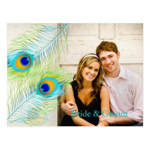 PixDezines peacock/DIY event+background color Postcard